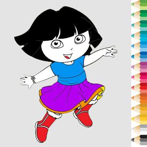 DORA-APPS-Expolorer-Coloring-Dora-Kids
