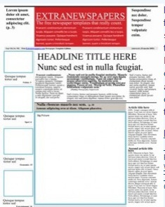 for Create your own newspaper template
