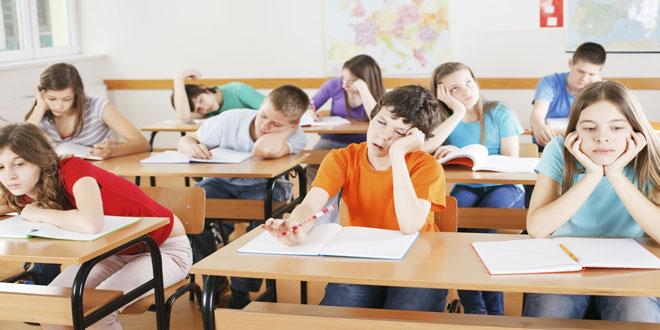الأطفال لا يحبون الدوام المدرسي