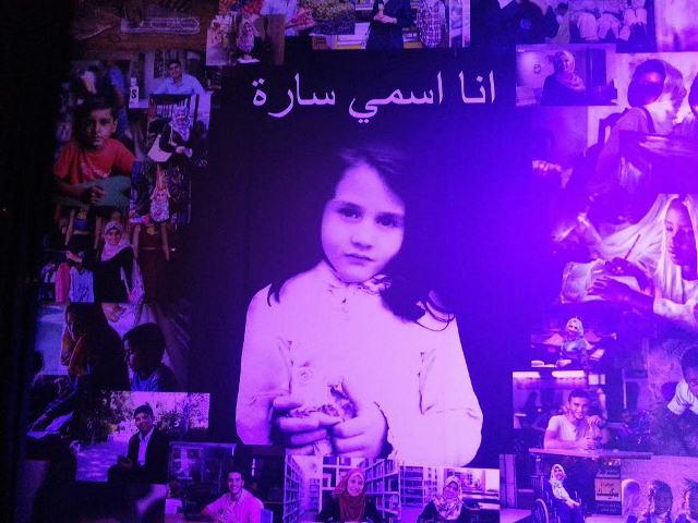 صورة للطفلة سارة من سوريا واحدة من الحالات التي تهتم بها مؤسسة التعليم فوق الجميع
