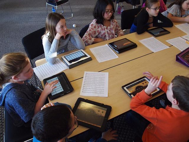 الأجهزة اللوحية في التعليم