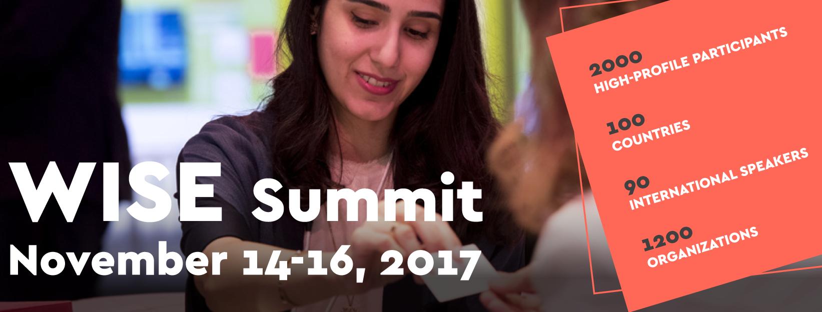 انطلاق فعاليات مؤتمر القمة العالمي للابتكار في التعليم وايز 2017