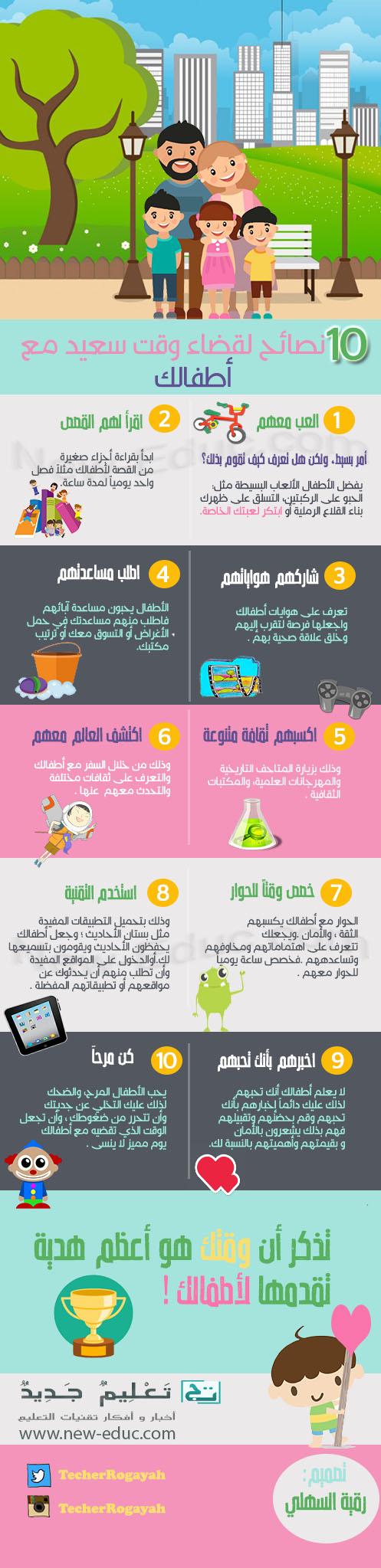 نصائح لقضاء وقت سعيد مع الطفل