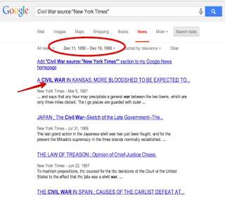 نتائج بحث في أرشيف جوجل للصحف الورقية