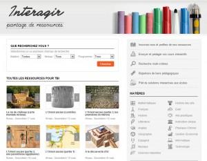 المواقع الإلكترونية للموارد الرقمية interagir