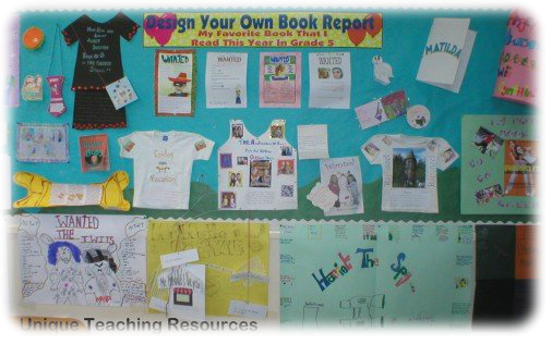 book report bulletin board title Including book reports  bulletin boards bulletin boards by month the parents record and initial the title of the story or book their child reads each.