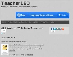 المواقع الإلكترونية للموارد الرقمية teacher led
